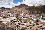 Overhead view of the city of Potosí, Bolivia.