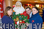 READY: Garvey's SuperValu staff.Catherine McGann, Paul O'Connor.and Mairead Stack, getting.the shop ready for Christmas.   Copyright Kerry's Eye 2008