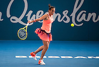 Roberta Vinci of Italy in action on Day 5 of the Brisbane International at the Brisbane Tennis Centre, Brisbane, Queensland, Australia