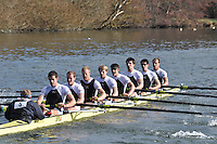 005 ELI.8+ Molesey BC ...Reading University Boat Club Head of the River 2012. Eights only. 4.6Km downstream on the Thames form Dreadnaught Reach and Pipers Island, Reading. Saturday 25 February 2012.