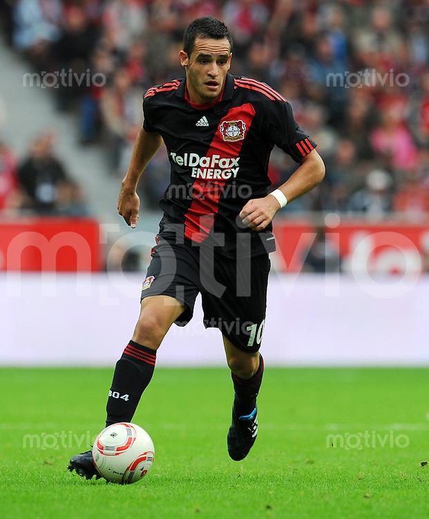FUSSBALL   1. BUNDESLIGA   SAISON 2010/2011   2. SPIELTAG Bayer 04 Leverkusen - Borussia Moenchengladbach  29.08.2010 Renato Augusto (Bayer 04 Leverkusen) Einzelaktion am Ball