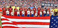 Commerce City, CO - Thursday June 08, 2017: The USMNT starting eleven during their 2018 FIFA World Cup Qualifying Final Round match versus Trinidad & Tobago at Dick's Sporting Goods Park.