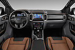 Stock photo of straight dashboard view of 2016 Ford Ranger Wildtrak 4 Door Pickup Dashboard
