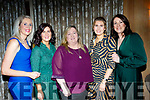 Attending the Cordal GAA awards night in the Ballygarry House hotel, Tralee last Saturday, were L-R Linda O'Connor, Elaine O'Donoghue, Breda Kelliher, Katie O'Donoghue and Siobhan Costello.