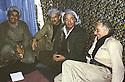 Iran 1980.Aziz Mohammed, communist party in Rajan with Aziz Akrawi.Irak 1980.Au centre,  Aziz Mohammed du parti communiste avec Aziz Akrawi a Rajan