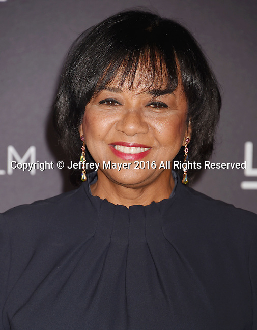 LOS ANGELES, CA - OCTOBER 29: President of Academy of Motion Picture Arts and Sciences Cheryl Boone Isaacs attends the 2016 LACMA Art + Film Gala honoring Robert Irwin and Kathryn Bigelow presented by Gucci at LACMA on October 29, 2016 in Los Angeles, California.