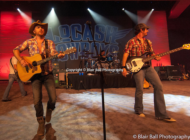 LoCash Cowboys band performs at the Gaylord Texan.