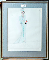 BNPS.co.uk (01202 558833)<br /> Pic: PhilYeomans/BNPS<br /> <br /> Norman Hartnell sketch - 'Specially designed for HM the Queen'<br /> <br /> A remarkable 'time warp' Royal archive amassed by the Queen's dressmaker has been found inside his old country home.<br /> <br /> The late Ian Thomas was a dress designer for members of the Royal Family, including Her Majesty, for over 30 years.<br /> <br /> As an apprentice he worked alongside the renowned fashion designer Norman Hartnell on creating the Queen's coronation dress in 1953.<br /> <br /> His archive includes embroidered samples of the gown worn by Elizabeth II for the historic ceremony in Westminster Abbey that was broadcast to millions.<br /> <br /> Mr Thomas also designed outfits for the Queen Mother and Princess Margaret.