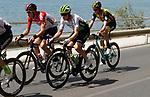 Benjamin King (USA) Team Dimension Data, Nikita Stalnov (KAZ) Astana Pro Team, Polka Dot Jersey Luis Angel Mat&eacute; (ESP) Cofidis, Jelle Wallays (BEL) Lotto-Soudal, Lars Boom (NED) LottoNL-Jumbo, Oscar Cabedo Carda (ESP) Burgos BH, Aritz Bagues (ESP) Euskadi-Murias and Ben Gastauer (LUX) AG2R La Mondiale form the break at the start of Stage 4 of the La Vuelta 2018, running 162km from Velez-Malaga to Alfacar, Sierra de la Alfaguara, Andalucia, Spain. 28th August 2018.<br /> Picture: Colin Flockton   Cyclefile<br /> <br /> <br /> All photos usage must carry mandatory copyright credit (&copy; Cyclefile   Colin Flockton)