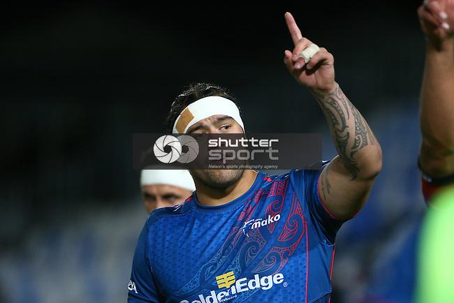 NELSON, NEW ZEALAND - SEPTEMBER 14: Mitre 10 Cup Tasman Mako v Taranaki Bulls on September 14 Trafalgar Park 2018 in Nelson, New Zealand. (Photo by:  Shuttersport Limited)