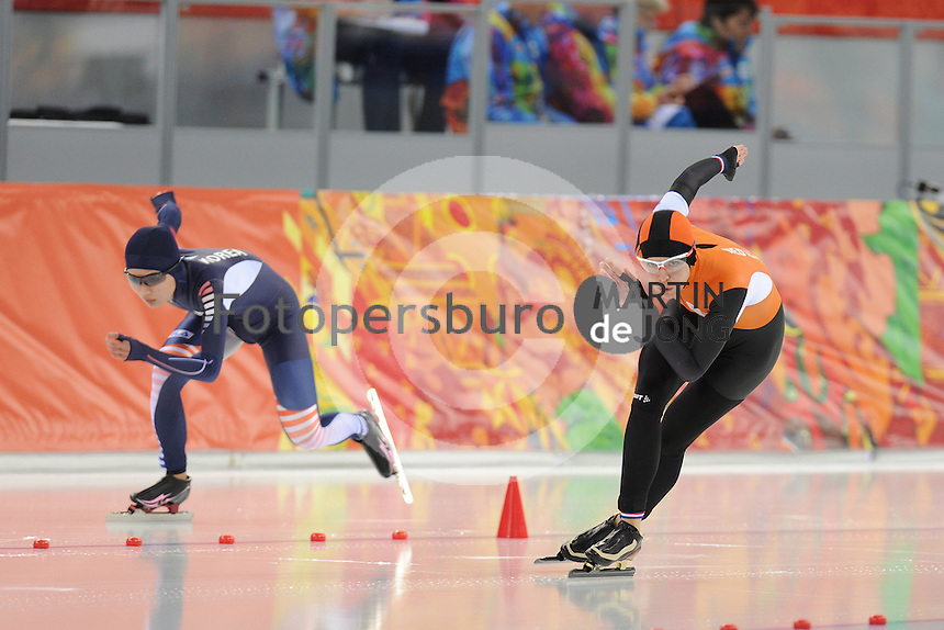 OLYMPICS: SOCHI: Adler Arena, 11-02-2014, 500m Ladies, Marrit Leenstra (NED), ©foto Martin de Jong