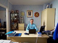 Police Judiciaire David Bauduin behind his desk at the Gendarmerie.