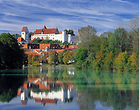DEU, Deutschland, Bayern, Oberbayern, Allgaeu, Fuessen am Lech: Hohes Schloss | DEU, Germany, Bavaria, Upper Bavaria, Allgaeu, Fuessen at river Lech: Hohes Schloss (high castle)