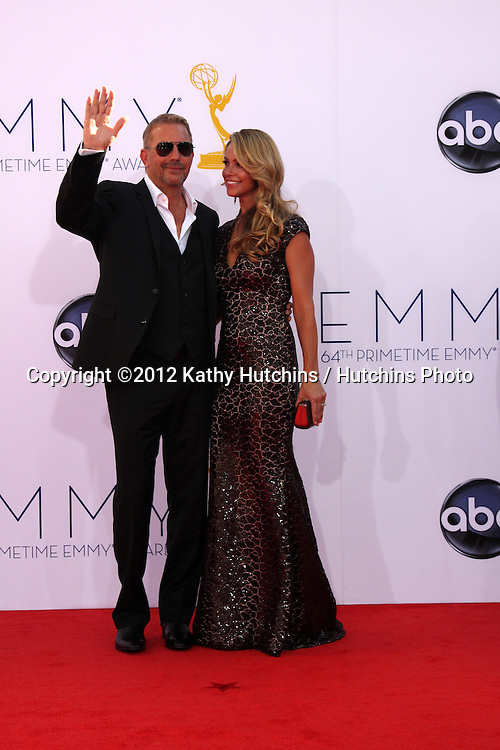 LOS ANGELES - SEP 23:  Kevin Costner arrives at the 2012 Emmy Awards at Nokia Theater on September 23, 2012 in Los Angeles, CA