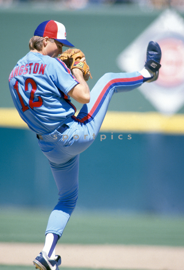 Montreal Expos Mark Langston(12), in action during a game from the 1989 season.