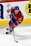 31 March 2010: Montreal Canadiens' left wing forward Mike Cammalleri in action against the Carolina Hurricanes at the Bell Centre in Montreal, Quebec, Canada. The Hurricanes defeated the Canadiens 2-1. Mandatory Credit: Ed Wolfstein Photo