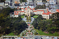 aerial photograph University of San Francisco USF campus