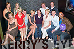 Celebrations: Twins Claire Sood and Eric Daly, Knockmoyle, seated centre, having a ball at their 30th birthday bash held in the VIP lounge in Horans Nightclub on Saturday night. Seated were Rochine Wallace, Nicola Fitzgerald, James Daly, Claire Sood, Eric Daly, Mary Daly, Brian Daly and Ray Sood. Standing were Siobhan Wallace, Susan Daly, Jamie Daly and Colin Wallace..