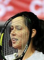 BOGOTA - COLOMBIA - 05-12-2013: Ana Ivanovic, tenista de Serbia, entrena en el Coliseo El Campin para su partido frente a la tenista Rusa Maria Sharapova, durante el Master Claro.  / Ana Ivanovic, Serbian tennis player, trains at the Coliseo El Campin for their match against the Russian tennis player Maria Sharapova during the Master Claro. / Photo:  VizzorImage / Luis Ramirez / Staff