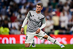 Toni Kroos of Real Madrid warming up during their La Liga  2018-19 match between Real Madrid CF and Atletico de Madrid at Santiago Bernabeu on September 29 2018 in Madrid, Spain. Photo by Diego Souto / Power Sport Images
