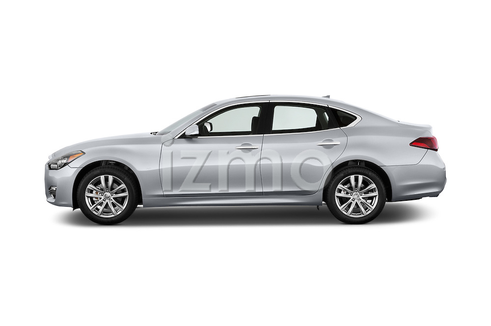 Car Driver side profile view of a 2015 Infiniti Q70 Base 5 Door Sedan Side View