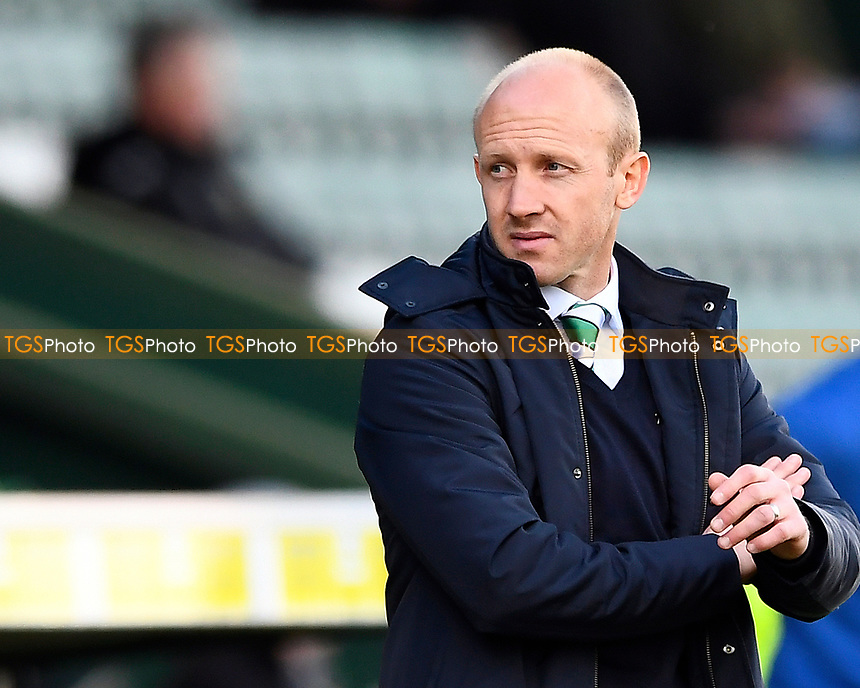Yeovil Town Manager Darren Way during Yeovil Town vs Carlisle United, Sky Bet EFL League 2 Football at Huish Park on 1st April 2017