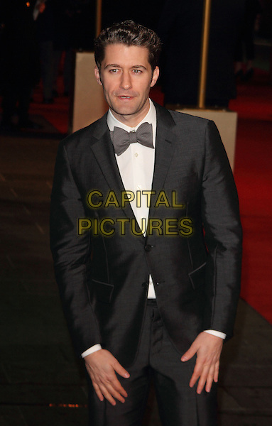 Matthew Morrison.World Premiere of 'Les Miserables' at the Odeon & Empire cinemas Leicester Square, London, England..December 5th 2012.half length grey gray suit white shirt bow tie tuxedo .CAP/ROS.©Steve Ross/Capital Pictures