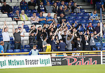 Inverness Caley Thistle v St Johnstone&hellip;27.08.16..  Tulloch Stadium  SPFL<br />Saints fans<br />Picture by Graeme Hart.<br />Copyright Perthshire Picture Agency<br />Tel: 01738 623350  Mobile: 07990 594431
