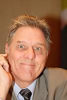 April 25, 2006 Montreal (QC) CANADA<br /> <br /> <br /> Pierre Curzi, coprÈsident de la Coalition pour la diversitÈ culturelle,<br /> 6e Symposium international sur le droit d'auteur de l'Union internationale des Èditeurs 23 - 25 avril 2006 , MontrÈal.<br /> Photo : Delphine Descamps - (c) 2006 Images Distribution