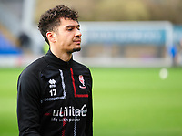 Lincoln City's Tyler Walker during the pre-match warm-up<br /> <br /> Photographer Andrew Vaughan/CameraSport<br /> <br /> The EFL Sky Bet League One - Shrewsbury Town v Lincoln City - Saturday 11th January 2020 - New Meadow - Shrewsbury<br /> <br /> World Copyright © 2020 CameraSport. All rights reserved. 43 Linden Ave. Countesthorpe. Leicester. England. LE8 5PG - Tel: +44 (0) 116 277 4147 - admin@camerasport.com - www.camerasport.com