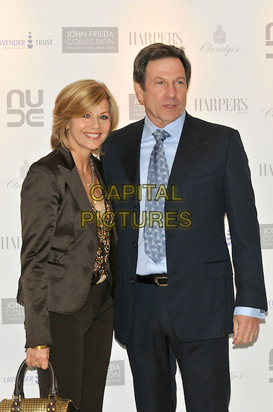 GLYNIS BARBER, MICHAEL BRANDON.10th Anniversary Party of the Lavender Trust at Breast Cancer Care, .Claridges Hotel, London, England, UK.1st May 2008..half length blue tie shirt suit black jacket.CAP/PL.©Phil Loftus/Capital Pictures