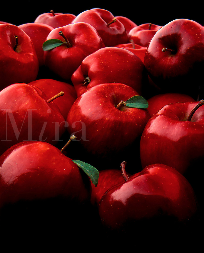 Ripe red apples.