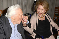 LOS ANGELES - MAY 4:  Kirk Douglas, Anne Douglas at the 25th Anniversary of the Anne Douglas Center at the LA Mission on May 4, 2017 in Los Angeles, CA