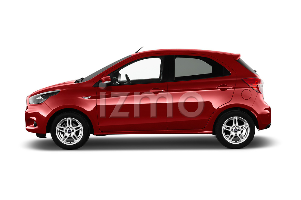 Car Driver side profile view of a 2017 Ford KA+ Ultimate 5 Door Hatchback Side View