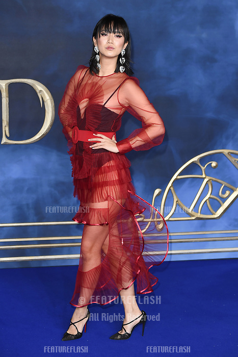 """LONDON, UK. November 13, 2018: Betty Bachz at the """"Fantastic Beasts: The Crimes of Grindelwald"""" premiere, Leicester Square, London.<br /> Picture: Steve Vas/Featureflash"""