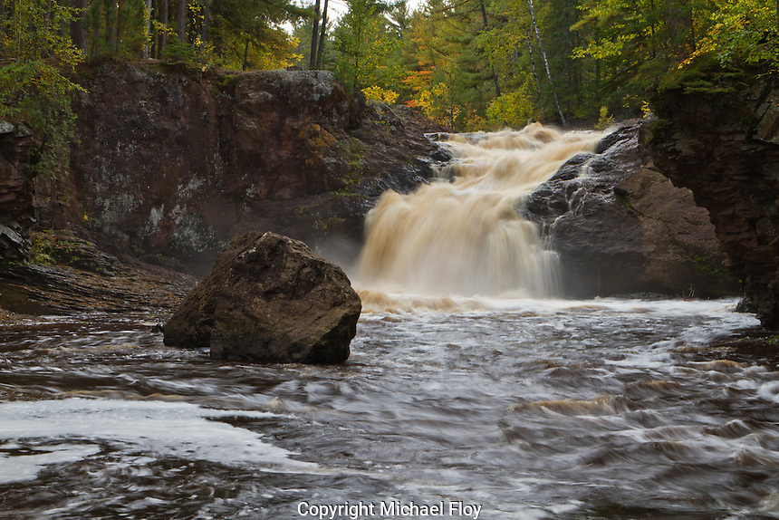 Amnicon Falls State Park Upper Falls. Located in Douglas County Wisconsin along the Amnicon River