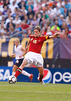 22 MAY 2010:  Germany's Kerstin Garefrekes #18  during the International Friendly soccer match between Germany WNT vs USA WNT at Cleveland Browns Stadium in Cleveland, Ohio. USA defeated Germany 4-0 on May 22, 2010.