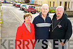 Cllr Cathal Walshe pictured with Anne Mulligan and John Keogh, O'Sullivans Place, Killarney, who are looking with measures to curb speeding through the area. ............................................................................