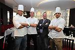 Ty Hafan Celebrity Chef.Jamie Roberts, Simon Jones, Frank Ady & Nathan Cleverly.Maldron Hotel.26.09.12.©Steve Pope