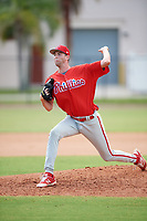 Philadelphia Phillies pitcher Kyle Young (22) delivers a pitch during an Instructional League game against the Atlanta Braves on October 9, 2017 at the Carpenter Complex in Clearwater, Florida.  (Mike Janes/Four Seam Images)