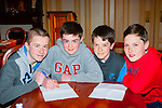 Correct<br /> ----------<br /> Representing Killarney South in the Kerry Community games quiz finals in the RiverIsland hotel Castleisland on Good Friday were L-R David Osborne,Eoighan O'Sullivan,Cillian Hickey&amp;Jamie Muldoon