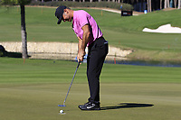 Trevor Immelman (RSA) putts on the 17th green during Friday's Round 2 of the 2018 Turkish Airlines Open hosted by Regnum Carya Golf &amp; Spa Resort, Antalya, Turkey. 2nd November 2018.<br /> Picture: Eoin Clarke | Golffile<br /> <br /> <br /> All photos usage must carry mandatory copyright credit (&copy; Golffile | Eoin Clarke)