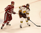 Wiley Sherman (Harvard - 25), Riley Tufte (UMD - 27) - The University of Minnesota Duluth Bulldogs defeated the Harvard University Crimson 2-1 in their Frozen Four semi-final on April 6, 2017, at the United Center in Chicago, Illinois.