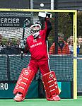 BLOEMENDAAL   - Hockey -  3e en beslissende  wedstrijd halve finale Play Offs heren. Keeper Jan de Wijkerslooth (A'dam).    Amsterdam plaats zich voor de finale.  COPYRIGHT KOEN SUYK
