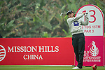 Hyeon Seo Kang of South Korea tees off at 13th hole during Round 3 of the World Ladies Championship 2016 on 12 March 2016 at Mission Hills Olazabal Golf Course in Dongguan, China. Photo by Lucas Schifres / Power Sport Images