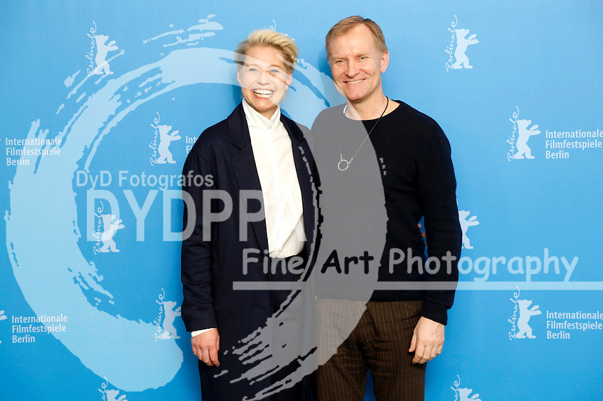 Trine Dyrholm and Ulrich Thomsen during the 'Kollektivet / The Commune / Die Kommune' photocall at the 66th Berlin International Film Festival / Berlinale 2016 on February 17, 2016 in Berlin, Germany.