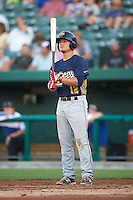 Burlington Bees first baseman Matt Thaiss (12) at bat during a game against the South Bend Cubs on July 22, 2016 at Four Winds Field in South Bend, Indiana.  South Bend defeated Burlington 4-3.  (Mike Janes/Four Seam Images)