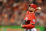 19 May 2012: Washington Nationals pitcher Henry Rodriguez on the mound against the Baltimore Orioles at Nationals Park in Washington, DC. The Orioles defeated the Nationals 6-5 in the second game of their 3-game series. Mandatory Credit: Ed Wolfstein Photo