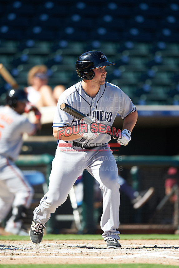 Peoria Javelinas Michael Gettys (23), of the San Diego Padres organization, during a game against the Surprise Saguaros on October 20, 2016 at Surprise Stadium in Surprise, Arizona.  Peoria defeated Surprise 6-4.  (Mike Janes/Four Seam Images)