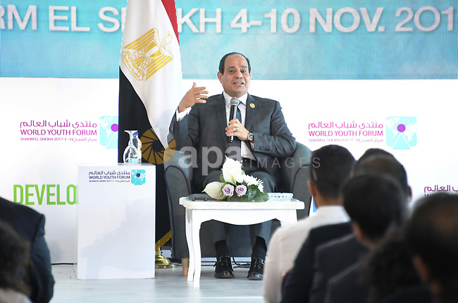 Egyptian President Abdel-Fattah al-Sisi takes part in the World Youth Forum in Sharm El Sheikh, Egypt, on Nov. 7, 2017. Photo by Egyptian President Office